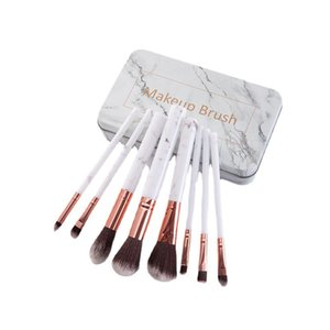 Professional 8pcs Marble Makeup Brushes Set Soft Foundation Powder Eyeshadow Brush Beauty Marbles Make Up Tools with storage Box
