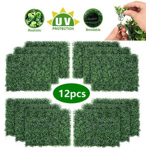 Artificial Hedge Plant UV Protection Indoor Outdoor Privacy Fence Home Decor Backyard Garden Decoration Greenery Walls HDD0171