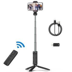 Ulanzi MT-40 Wireless Bluetooth Selfie Stick Tripod Foldable Monopods Universal For Smartphone Sports Action Camera