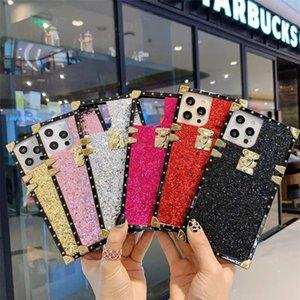 Bling glitter cep telefonu kılıfları iphone 12 12pro 11 11pro x xs max xr 8 8 artı 7 7 artı 6 6 s artı kare darbeye dayanıklı arka vaka kapak