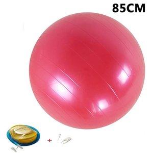 Bolas de yoga Pilates Fitness Gimnass Massager Point Balance Fitball Ejercicio Bola 45 55 65 75 85cm con bomba SQCIYA Pingtoy