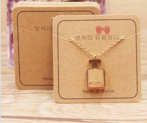 2021 Exquisite Necklace card square 5 * 5cm 300g paper cards printing various patterns choose jewelry 5*5cm 002