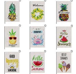 sale 47*32cm Spring Summer Burlap Welcome Garden Indoor Outdoor Double Sided House Yard Flag Home Decor SN4090 42UF