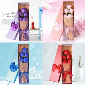 soap Rose Bouquet Gift Artificial Flower Mother 's Day present Birthday Decorative Flowers 5pcs per Box 1247 V2