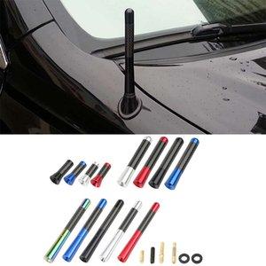 3.5 8 12cm Car Roof Antenna Enhanced Signal 1.4 Carbon Fiber Screw Metal Short Stubby Mast Car Radio Aerial Antenna Accessories
