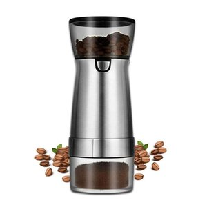 Electric Coffee Grinders Grinder Usb Rechargeable Stainless Steel Professional Bean Mill Machine For Nuts Spices Grains Pepper