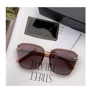 مصمم الأزياء النظارات الشمسية أعلى جودة النساء العلامات التجارية مكبرة ظلال في الهواء الطلق الإطار الكامل uv400 النظارات عدسة المرايا الفاخرة نظارات الشمس الأصلي سيدة النظارات
