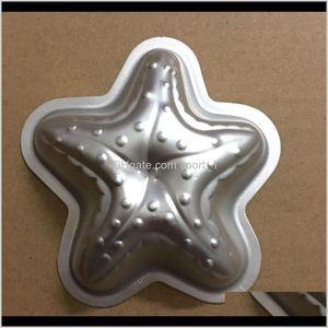 Baking Moulds Bakeware Kitchen Dining Bar Home Garden Drop Delivery 2021 Star Shape Aluminum Alloy Bomb Mold Bath Fizzy Diy Metal Molds Starf