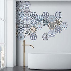 Pegatinas de pared Piso impermeable Baño Peel Stick Azulejos autoadhesivos Hogar Cocina Sala de estar Decoración No Slip Decal