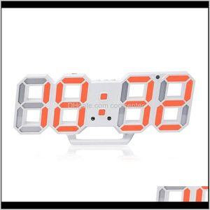 Clocks Décor Home & Garden Drop Delivery 2021 3D Led Display Digital Electronic Modern Design Simple Fashion Wall Clock Usb Plug Stereo 7Au2X