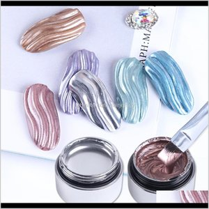 Salon Health Beauty Drop Delivery 2021 1Pcs Metallic Mirror Gel Polish Primer Spider Lines Lacquer Gellak Top Base Coat Ding Nail Art Decorat