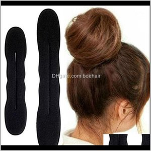 Braiders Care & Tools Products Drop Delivery 2021 2 Pc (One Big Another Is Smal) Hair Styling Magic Sponge Clip Foam Bun Curler Hairstyle Twi