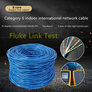 Super Category 6 Unshielded Network Cable 8-core Oxygen-free Copper Over-tested Cat Gigabit Twisted Pair Can Be OEM