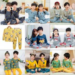 Nuovo Pigiama dei cartoni animati autunnali per ragazze Ragazzi Pigiama per bambini Maniche lunghe in cotone 2pcs Pigiama Set Bambini Abbigliamento per bambini Sleepwear 201225