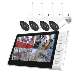 Wireless Camera Kits 1080P Wifi Surveillance Set 4ch CCTV 7Inch LCD NVR Kit Support TF Card Plug And Play XMeye App