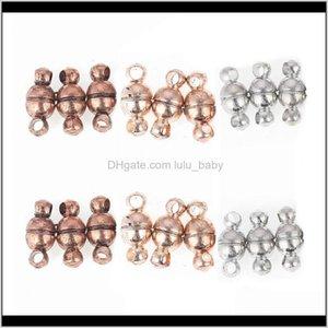 Clasps Hooks 100Pcs 511Mm Rose Gold Black Vintage Magnetic Clasp Fit Bracelet Connectors Components Magnet Buckle Jewelry Making Findi Pf4Dq