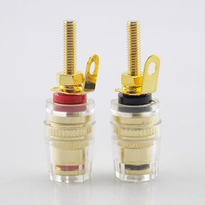 4MM Banana Plug Socket jack Connector red black Thread Medium Amplifier Speaker Spade Terminal Binding Post audio