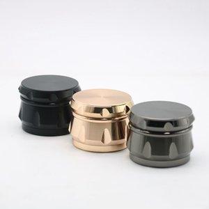Accessoires fumeurs Sharp Stum de tambour Forme Grinder Herb Toby Tobacco Tabac à base de tabac 4 Couleurs 63mm Diamètre Grinders ZWL306