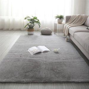 Super Soft Faux Rabbit Fur Rug Non Slip Floor Mat Washable Rugs Bedroom Living Room Decor Carpet Plush fluffy carpet