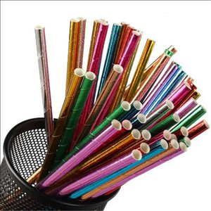 cup Gold and silver disposable environmental protection creative dessert table decoration bar handmade paper straw