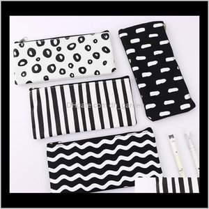Cases Bags Business & Industrial Drop Delivery 2021 Stripe Pocket Cosmetic Makeup Pencil Pen Organizer Bag Case Pouch Office School Supplies