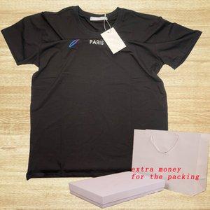 20ss Men Designer T Shirt con letras Moda Verano Tee Shirts para Mujeres Casual Manga corta Homme Ropa 2 Estilos