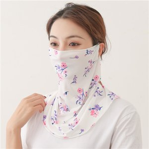 25 IN Face Stock Scarf Cheap Mask Women Design Styles Silk Chiffon Handkerchief Windproof Half Face Dust-proof Outdoor Sunshade Masks FY6135 610