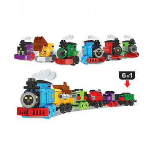 Assemblage 12 Pcs   Set Capsule Toys Blocks Mini Train Fuuny Hing Quality Toys With Color Box