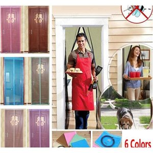 Bedding Supplies Textiles Home & Garden Drop Delivery 2021 6 Colors Magnetic Door Net Curtain Mesh Screen Windows Insect Fly Bug Gauze Mosqui