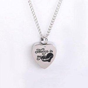 Heart Cremation Urn Necklace For Ashes Jewelry Memorial Pendant Necklaces