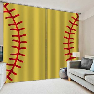 Curtain & Drapes Luxury Blackout Personality Curtains 3D Window For Living Room Bedroom Yellow