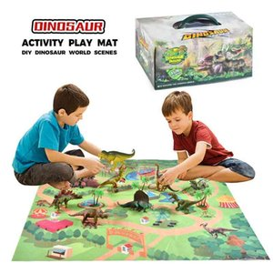 Kids Activity Play Mat Trees Educational Realistic Dinosaur World Developing Mat For Children Game Pad Toys Birthday Gifts#g4 210401