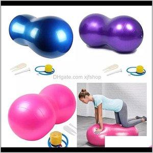 الاكسسوارات اللياقة البدنية كرات سلالة إلى الكرة نفخ الرياضة سميكة اليوغا الفول السوداني بيلاتيس الولادة مع مضخة يدوية XURXC OHKAN