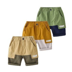 Summer boys casual patchwork Cargo shorts 3 colors cotton all-match thin 210708
