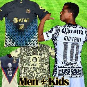 2021 2022 Liga MX Club Amerika Uzakta Üçüncü Futbol Formaları 20 21 22 Giovani Castillo Ochoa 3rd Futbol Gömlek Kiti Camiseta De Futbol Erkekler Kids Setleri Setleri Ekipmanları