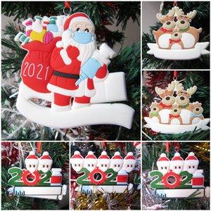 Karikatür Noel Baba Elk Kardan Adam Aile Parti Dekorasyon Noel Ağacı Süsleme Hediye 2021 Xmas KapıPlate Kolye için 71008A