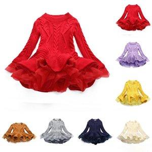 Baby Girls Knit Sweater Dresses Kids TUTU Autumn Winter Thick Warm Princess Jumper Pullover Dress