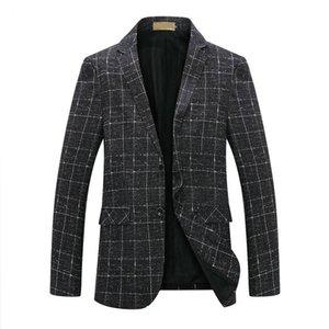 Искусственные кожаные мужчины повседневная стройная пригонка Blazer PU костюма куртка одной кнопки свадебное деловое платье пальто Hombre # 04
