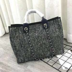 5A высококачественный бренд дизайн женские плеча кроджобищная сумка модная большая емкость тканый холст сумки с кожаной цепочкой покупок пляжные сумки