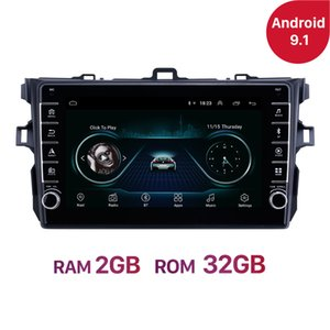 Android 10 Ram 2GB Car dvd Radio Multimedia player for Toyota Corolla E140 E150 2006-2016 Unit 2 DIN Car GPS Navigation