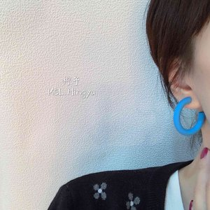 2020 New GC candy color summer Korean acrylic frosted Earrings women's new personalized net red Earrings