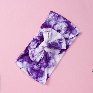 23 couleurs cravate colorant bébé accessoires de cheveux Bandeau nylon cravate-colorant imprimés kid bandeau de tête coloré headwraps filles cheveux arcs turban Bun DHD6337