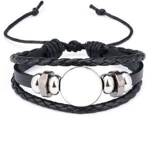 Bracelets de corde pour la sublimation Fashion Blank Bracelet Bijoux pour Thermal Transfert Style De Style Bijoux en gros 210619