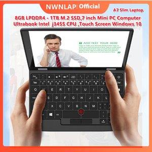 Latest Pocket Slim Laptop Ultrabook A7 Intel j3455 CPU 8GB+1TB SSD 7inch Mini PC Computer Netbook Notebook Touch Screen Window10