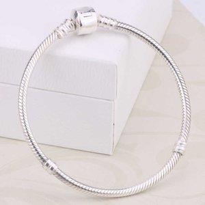 Bracelet designer Factory en gros 925 Sterling Silver S 3mm Snake Chain Chain Fit Pandora Charms Perle Bijoux Bijoux Faire cadeau pour hommes Femmes