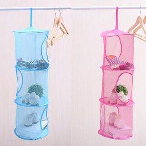 High - quality 3 Shelf Hanging Bag color network cage cylindrical storage basket free OPDO X3UG