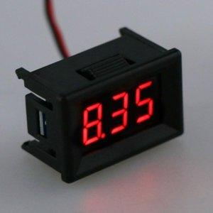 Voltage Meters DC 2.4V-30V 2Wires Voltmeter Mini 0.36
