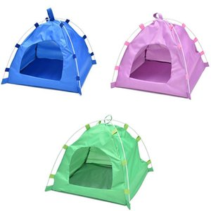 Waterproof Oxford Folding Pet Tent House Dog Cat Playing Mat Kennel Bed Kennels & Pens