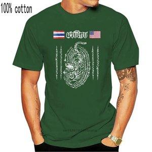 tops Muay Thai Thailand Om Usa T-shirt 100% Katoen Slim Fit Top For Men Custom Printed Shirts