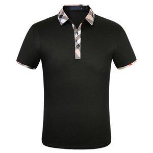 Образование моды дизайнер мужские рубашки POLOS мужчины с коротким рукавом футболка оригинальные одноистовое отворота куртка рубашки Sportswear jogging костюм m-3xl # 662